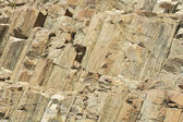 Hexagonal columns of volcanic origin at the Hong Kong Global Geopark in Hong Kong, China. — Stock Photo