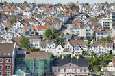 Aerial view of Stavanger city historical buildings in Stavanger, Norway. — Stock Photo