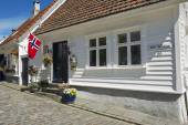 Exterior of the traditional wooden house in Stavanger, Norway. — Stock Photo