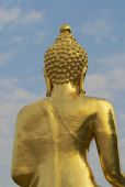 Exterior detail of the Golden Buddha, Ban Sop Ruak, Chiang Mai, Thailand. — Stock Photo