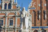 Sculpture of Roland at the Town Hall square in Riga, Latvia. — ストック写真