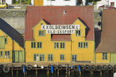Exterior of the traditional wooden houses in Haugesund, Norway. — 图库照片