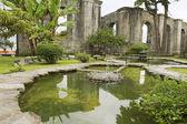 Exterior of the fountain at the ruins of the Santiago Apostol church in Cartago, Costa Rica. — Stock Photo