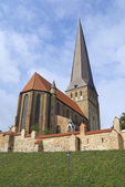 Exterior of the St. Peter's Church in Rostock, Germany. — Stock Photo