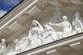 Zewnętrzne detal elewacji katedry w Wilnie, Litwa. — Zdjęcie stockowe
