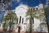 Exterior of the Cathedral of the Theotokos in Vilnius, Lithuania. — Stock Photo