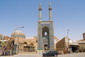 Extérieur de la mosquée Jameh à Yazd, Iran. — Photo