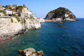 ISCHIA, ITALY - AUGUST, 8: Panorama of Sant Angelo, August 8, 2007 — Stock Photo
