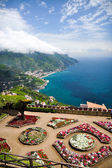 View from Villa Rufolo gardens in Ravello, Italy — Stock Photo