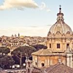 View of Rome from Palazzo Senatorio in retro style — Stock Photo #69657121