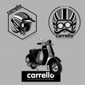 Scooter. Carrello.01 — Stock Vector