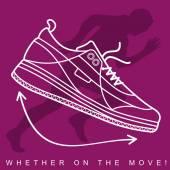Sneakers.Siluette.04 — Vector de stock