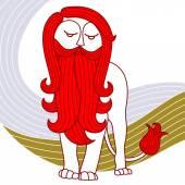 Beard.Lion.02 — Stock Vector