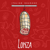 İtalyan sosis — Stok Vektör