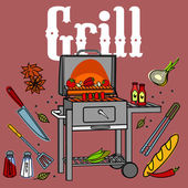 Grill & BBQ — Stock Vector