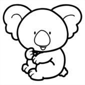 可爱的考拉 — 图库矢量图片