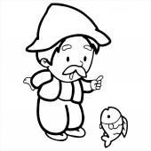 Characters in fairy tales — Stok Vektör