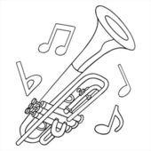 Труба с примечаниями — Cтоковый вектор