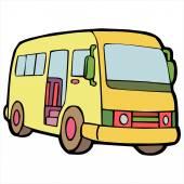 Bus cartoon illustration isolated on white — Cтоковый вектор
