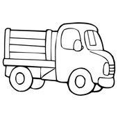 Truck cartoon illustration isolated on white — Stock Vector