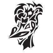 Smiling bird tattoo — Stock Vector