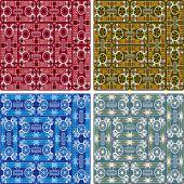 Sömlös abstrakt konst mönster set — Stockvektor