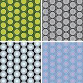 Seamless octagon pattern set — Stock Vector
