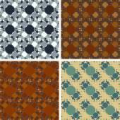Seamless abstract art pattern set — Stock Vector
