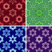 Abstract art pattern set — Stok Vektör