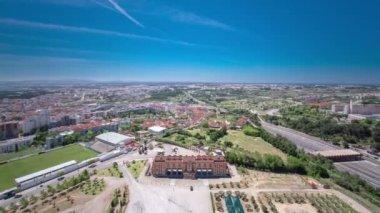 View of Almada city near Lisbon - Portugal timelapse — Stock Video