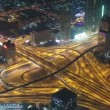 Aerial view of highway junction in Dubai, UAE. View from the height of Burj Khalifa timelapse — Stock Video #71060823