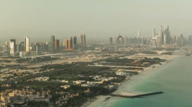 Dubai Marina Skyline at morning from Burj Al Arab. United Arab Emirates timelapse — Video Stock