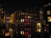Amsterdam by night — Stock Photo