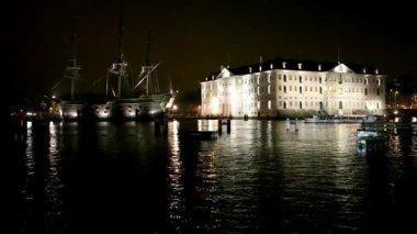 Maritime museum in Amsterdam — Stock Video