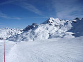 Winter mountains in France — Stock Photo