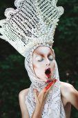 Halloween bloody make-up — Stock Photo