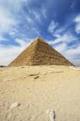 Pyramids of Giza - Pyramid of Khafre in Egypt — Stok fotoğraf
