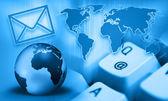 Interrnet communication - e-mail — Stock Photo