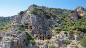 Rock tombs in Myra, Demre, Turkey — Stock Photo