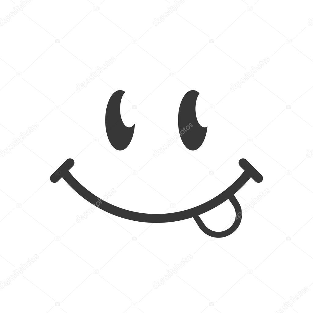 Zwart wit smiley icoon stockvector 4zeva 107432680 - Smiley en noir et blanc ...