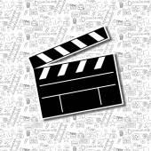 Cinema background illustration. — Stock Vector