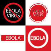 Stop Ebola sign on white background. — Stock Vector