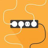 Plug and socket — Stock Vector