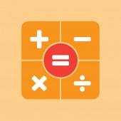 User interface calculator icon — Stock Vector