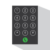 Flat keypad for phone — Stock Vector