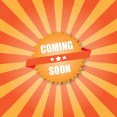 Coming soon label — Stock Vector