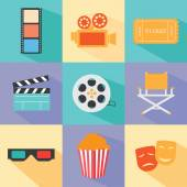 Set of movie design elements — Stock Vector