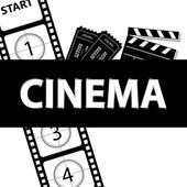 Cinema black and white — Stock Vector