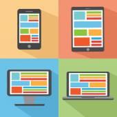 Conjunto de dispositivos digitais — Vetor de Stock