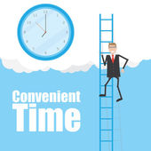 Convenient time — Stock Vector
